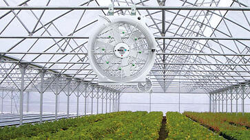 controlling fans in greenhouses USA