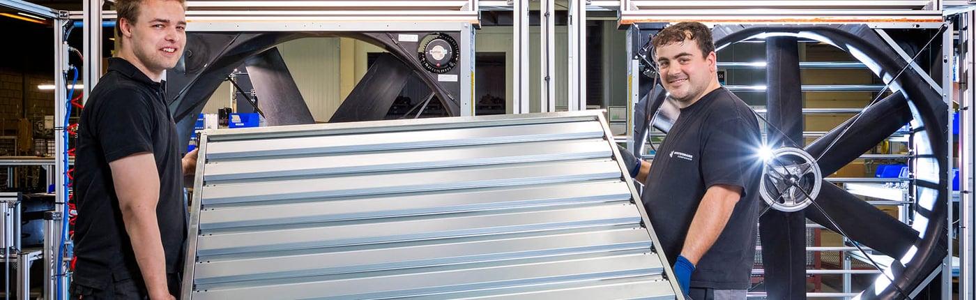 Vostermans Ventilation Factory Production assembly line 3