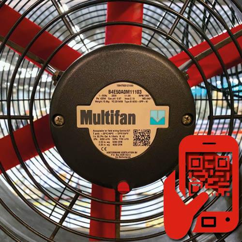 Vostermans Ventilation QR code Service 2 R