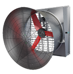 Multifan Galvanized Slant Wall Fan