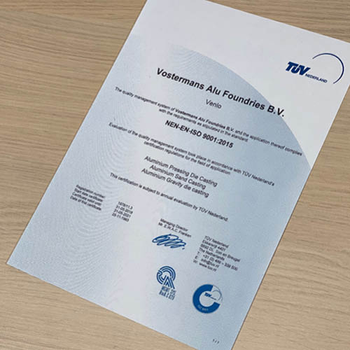 Vostermans Alu Foundries ISO 9001-2015 2 R