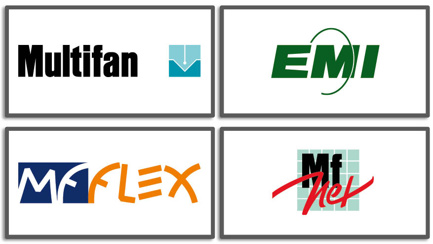 Vostermans Ventilation 4 brands Multifan EMI MfNet MfFlex Co